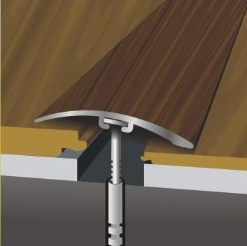 Стык между линолеумом и ламинатом: планки и порожки