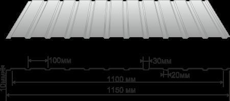 Профнастил —  профилированный стальной лист с гофром.