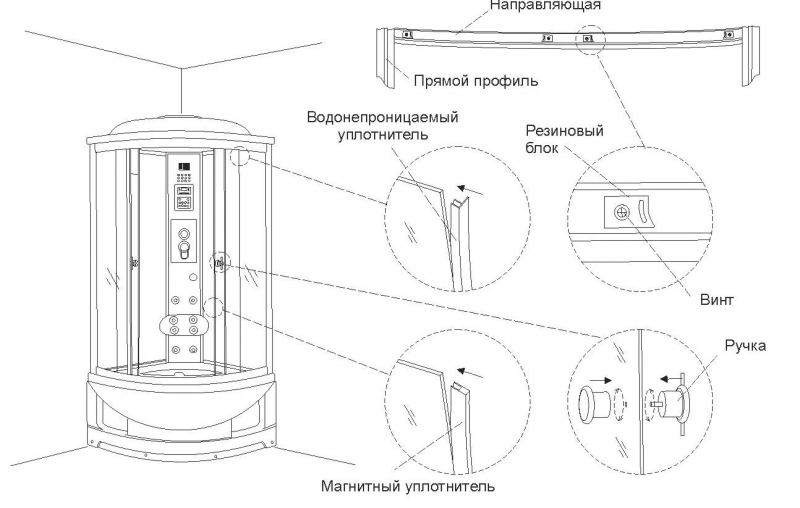 Как правильно собрать душевую кабинку?